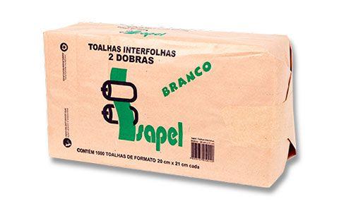 Toalhas interfolhas 2D Branco 20x21cm 1000un Isapel