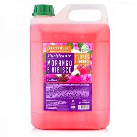 Sabonete premisse morango e Hibiscus 5L