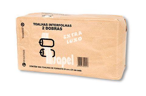 Toalhas interfolhas 2d Extra Luxo 20x21cm 1000un Isapel