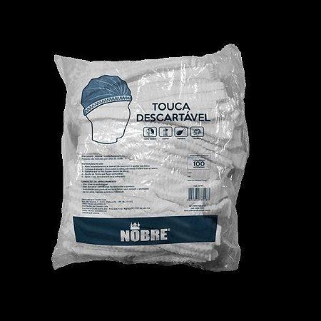 Touca descartavel TNT (sanfonada/pct c/100un.) NOBRE