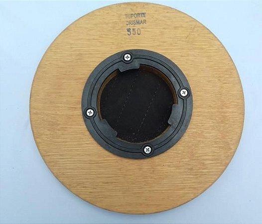 Suporte 350 c/ flange disco de madeira