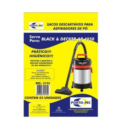 Saco aspirador Black e decker ap 4850