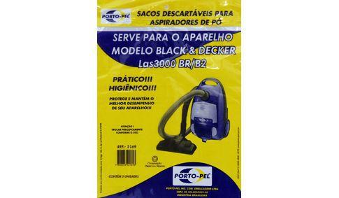 Saco aspirador Black e decker las 3000 BR/B2 - 3 und (REF.2169)
