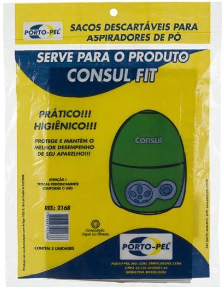 Saco aspirador consul fit - 3 und (REF.2168)