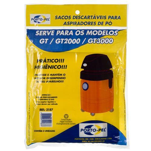 Saco aspirador Electrolux GT / GT2000 / GT3000 - 3 und (REF.2187)