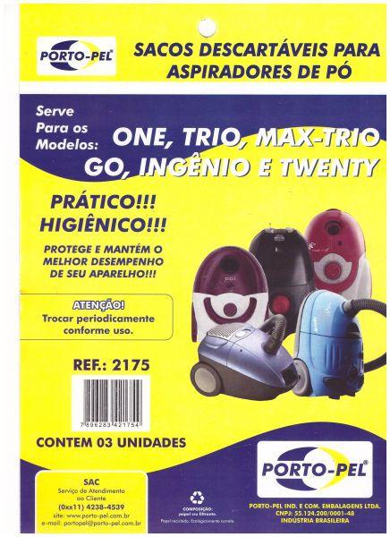 Saco aspirador electrolux one / trio / max-trio go / ingenio / twenty - 3 und (REF.2175)