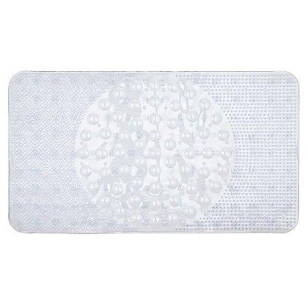 Tapete p/ box anti-derrapante branco 40x70