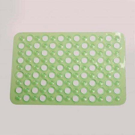 Tapete p/ box anti-derrapante verde 40x70