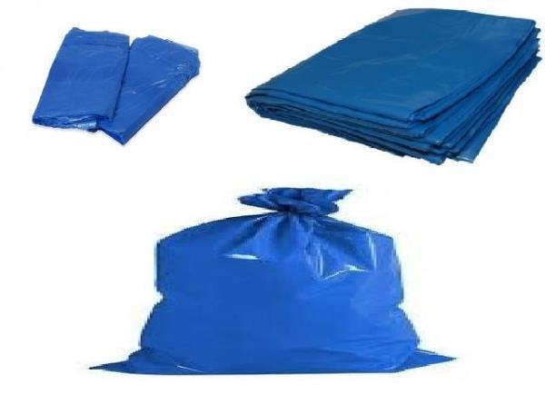 Saco de lixo azul 50L 10kg 10 unidd