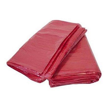 Saco lixo vermelho 60L 100un