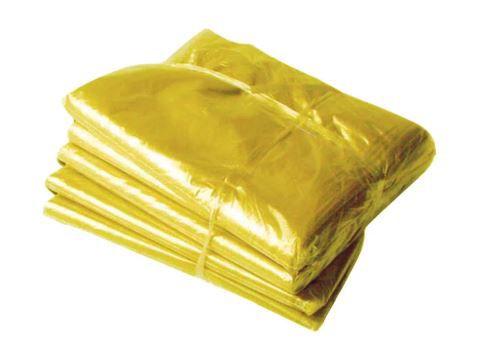 Pacote saco lixo amarelo 100L 100 undd