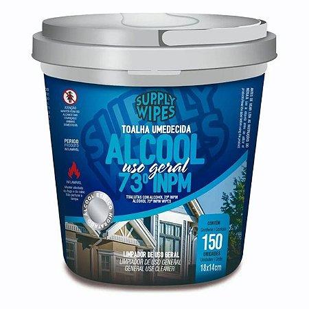 Lencos Umedecidos Supply Clean Alcool 73% Balde 150un