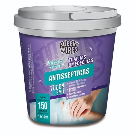 Lencos Umedecidos Antissépticas Supply Wipes Balde 150un