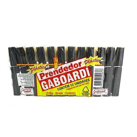 PRENDEDOR ROUPAS 12UN GABOARDI PLASTICO
