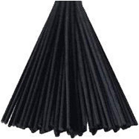 Kit Vareta fibra sens feltro preta 10un