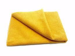 Pano de microfibra 20x20cm amarelo (pacote c/2un) NOBRE