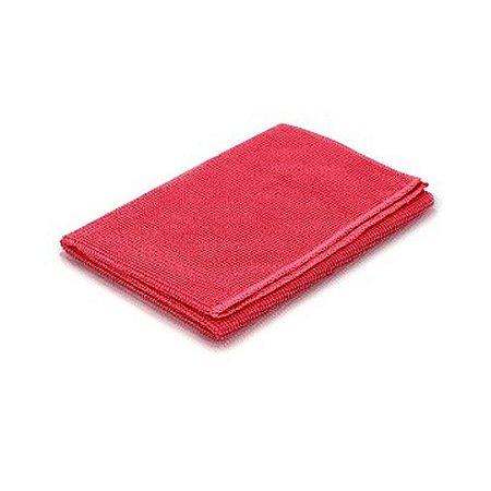 Pano de microfibra 40x40cm vermelho (pacote c/2un) NOBRE