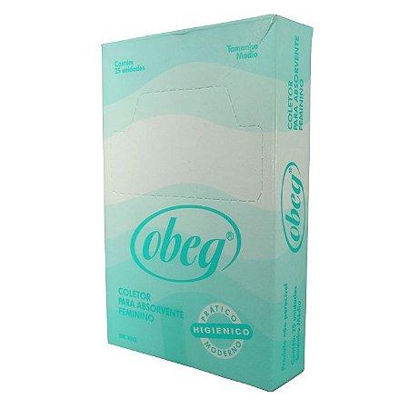 "Saquinho plast.descart.""tipo luva""(refil c/25un.p/descarte absorvente) - Obeg"
