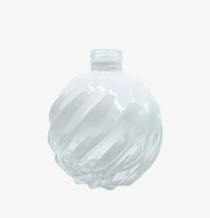 Vidro bola espiral 120ml R28 branco degrade (sem válvula)