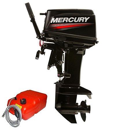 Motor de popa Mercury  50 HP MH 2T 3 Cil. MANCHE/MANUAL 15 POLEGADAS - Preço Produtor Rural e PJ