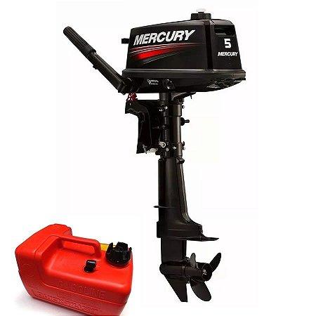 Motor de popa Mercury    5 HP 2T Rabeta longa Preço produtor Rural PJ