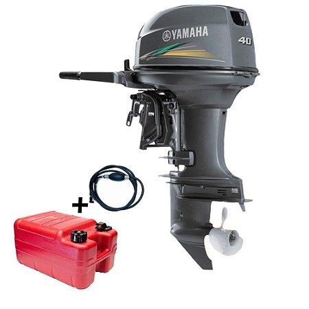 Motor de popa Yamaha 40 HP 2T - AMHS - Manche e Partida Elétrica Tornado