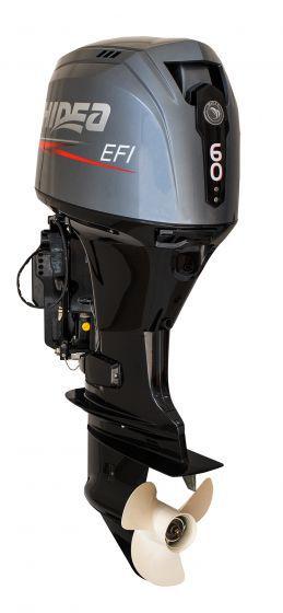 Motor de popa Hidea 60 HP 4T - Comando à distância - Power Trim - Partida Elétrica - Rab. 20 pol.