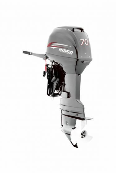 Motor de popa Hidea 70 HP 2T - manual - sem trim - Rab. 20 pol. - Produtor Rural ou CNPJ