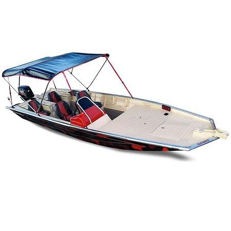 Barco Uai Black Bass MT 6.0 (com comando) Indicação motor 40 a 60HP - Casco