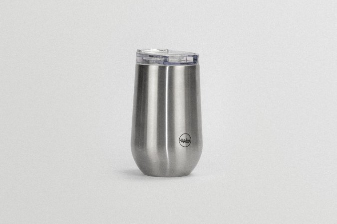 Copo Térmico Belli 450ml Silver