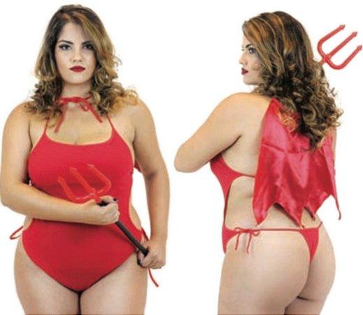 Fantasia Plus Size - Diabinha
