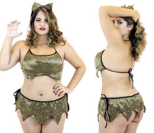 Fantasia Erótica Tigresa -  Plus Size