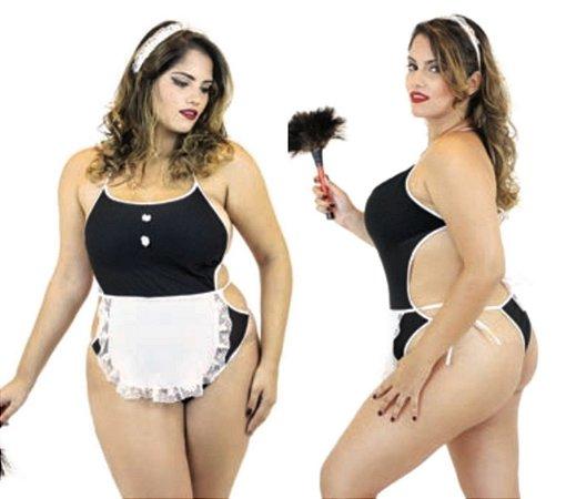 Fantasia Erótica Empregada - Plus Size