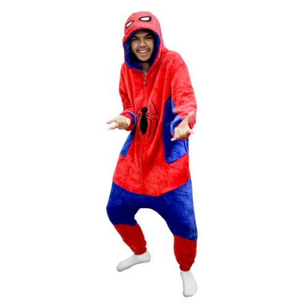 Macacão Kigurumi Homem Aranha Spiderman