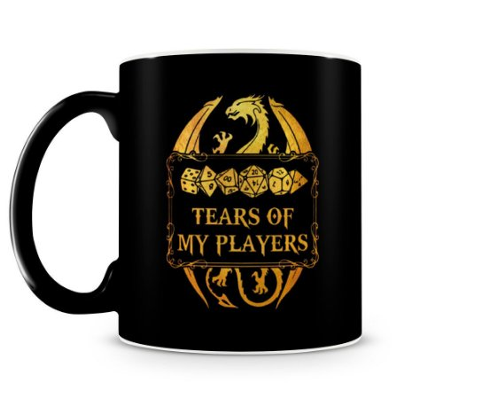 Caneca Dungeons and Dragons Tears Of My Players Preta