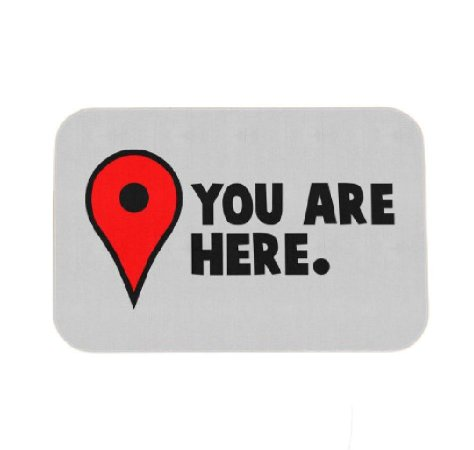 Tapete Decorativo You Are Here