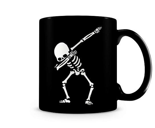 Caneca Meme Skull Dabing Black
