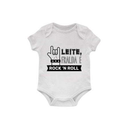 Body Bebê Leite, Fralda e Rock'n Roll