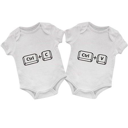 Body Bebê Gêmeos CTRL C CTRL V