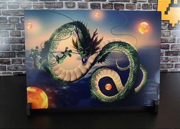 Placa Decorativa de Metal Dragon Ball Shenlong HD