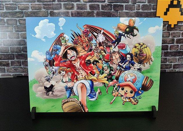 Placa Decorativa de Metal One Piece HD