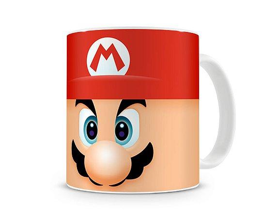 Caneca Mario Bros Branca