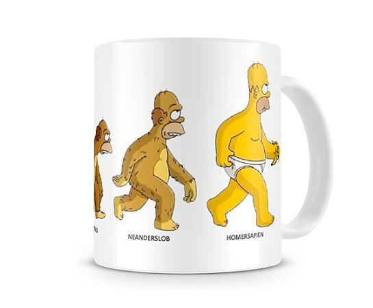 Caneca Os Simpsons Homer Sapiens