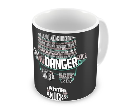 Caneca Breaking Bad - Walter White Face Words