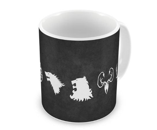 Caneca Game of Thrones - Casas III