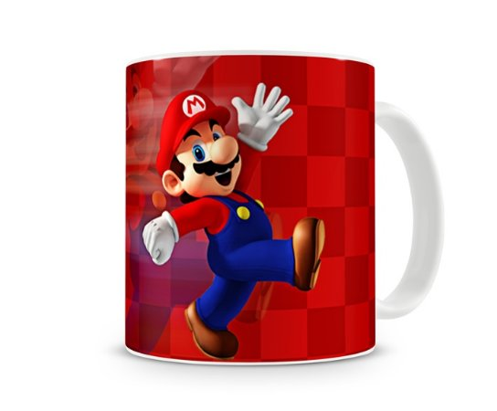 Caneca Mario Bros Vermelha