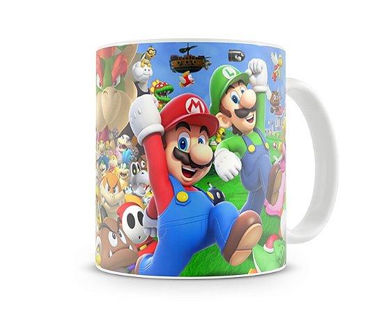Caneca Mario Bros - Personagens