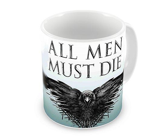 Caneca Game of Thrones All Men Must Die