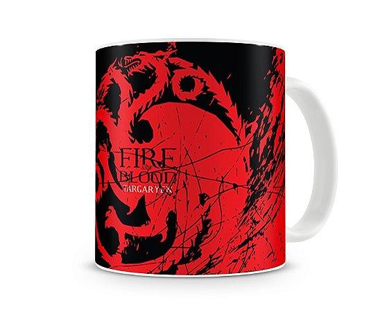 Caneca Game of Thrones Targaryen Red