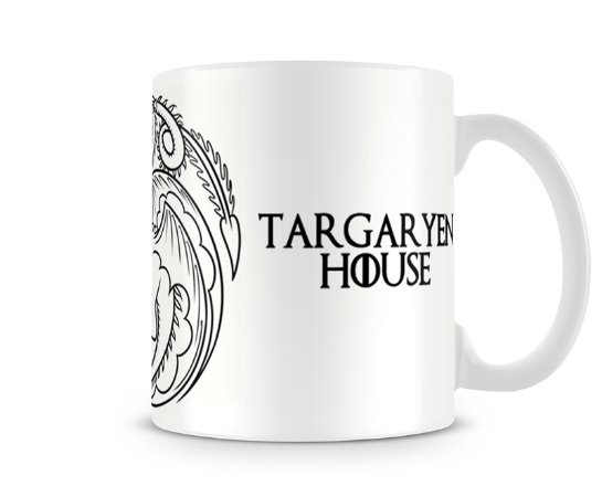 Caneca Game of Thrones Targaryen White